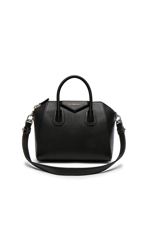 Givenchy 'Mini Antigona' Sugar Leather Satchel - Black
