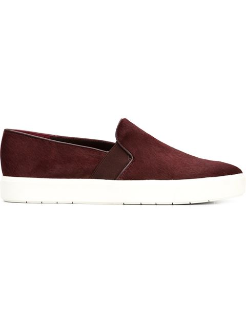 Vince 'blair 12' Genuine Calf Hair Slip-on Sneaker (women) In Oxblood