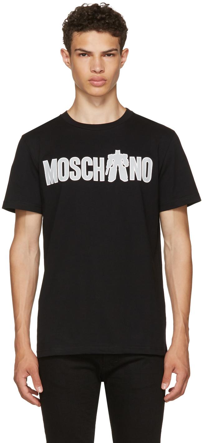 Moschino Logo Printed Cotton Jersey T-shirt, Black