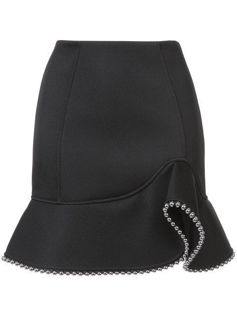 Alexander Wang Studded A-Line Skirt In Black