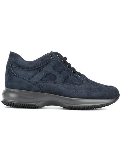 Hogan Women's Shoes Suede Trainers Sneakers Interactive In Blue