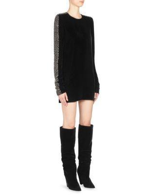 108fc6efe3 Embellished Velvet Dress