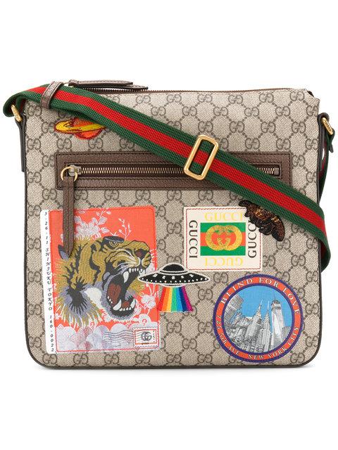 56dd72a948e8 Gucci Gg Supreme AppliquÉD Messenger Bag - Beige, Tan In Neutrals ...