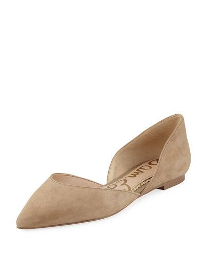 69d8988889dc Sam Edelman Women s Rodney Floral-Embroidered D Orsay Flats In Oatmeal