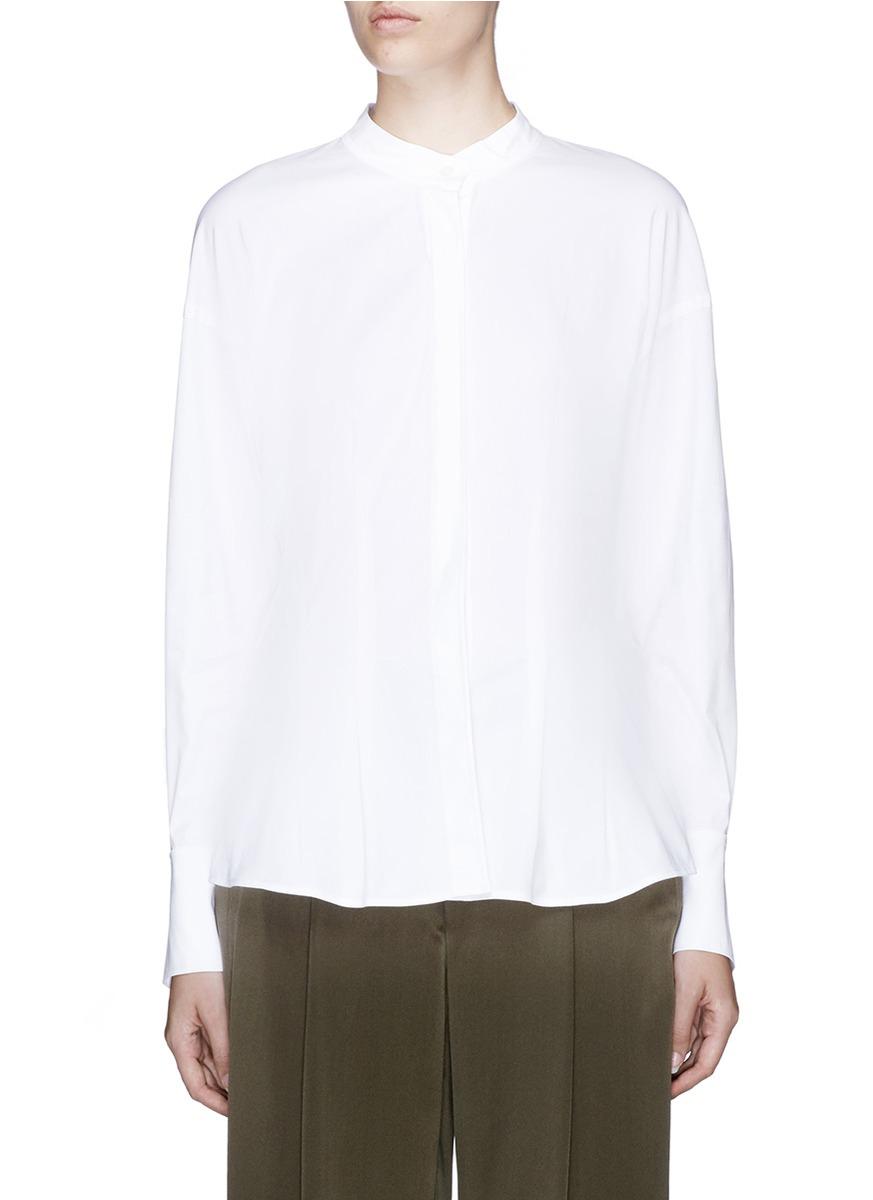 59e141df9d0 Theory 'Narthus' Slim Fit Cotton Poplin Shirt In White | ModeSens
