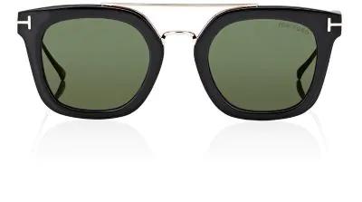 68855cc7c1a4 Tom Ford Alex Acetate   Metal Square Sunglasses