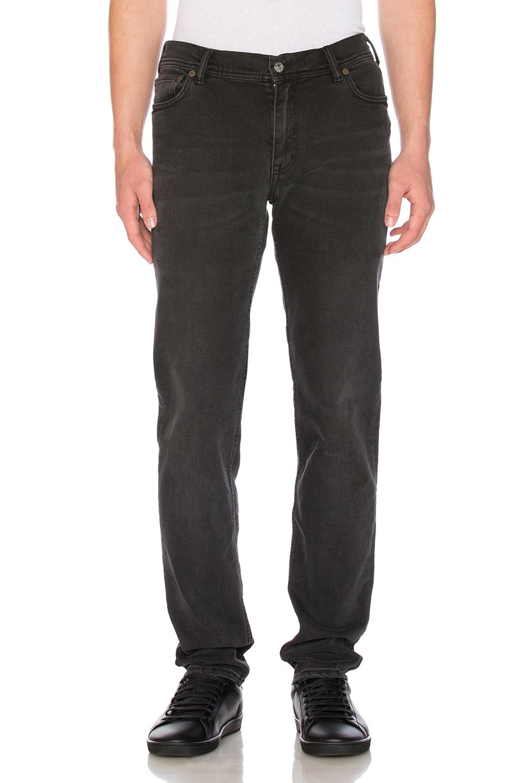 Acne Studios North Skinny Washed-denim Jeans In Used Black