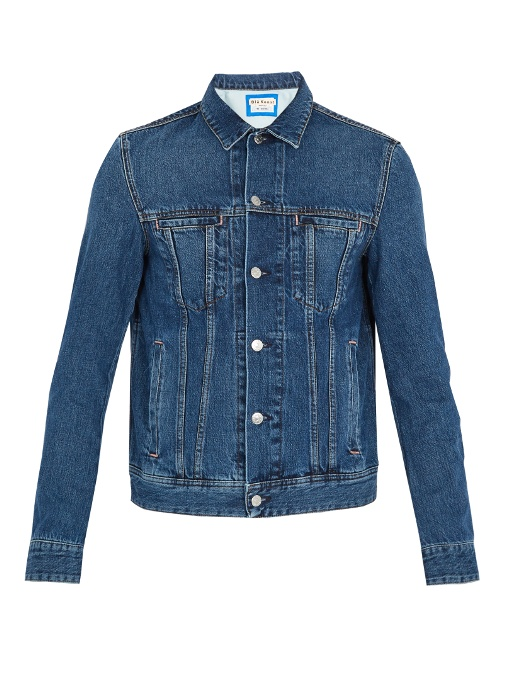 c43647d8de9 Acne Studios BlÅ Konst Tent Point-Collar Denim Jacket In Mid Blue ...