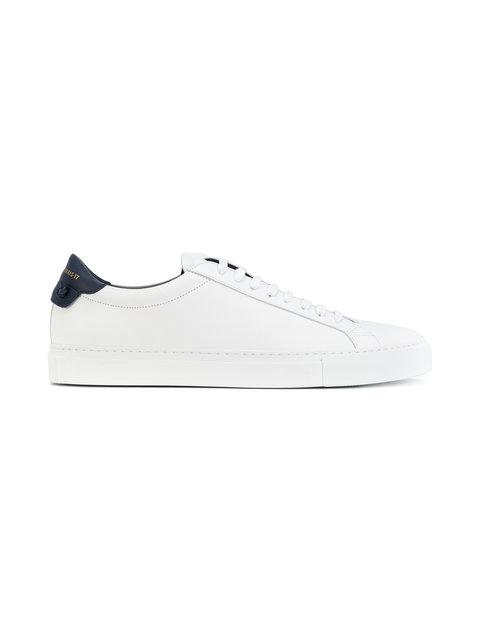 Givenchy Men's Urban Street Leather Low-top Sneakers In 116-wht/blk