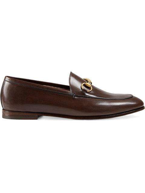 Gucci Brixton Horsebit-detailed Leather Collapsible-heel Loafers In Brown