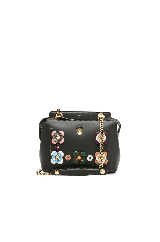 8176d8a2ca78 Fendi Dotcom Click Small Leather Shoulder Bag In Green