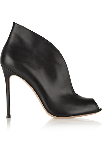Gianvito Rossi Lombardy Leather Heeled Ankle Boots In Black