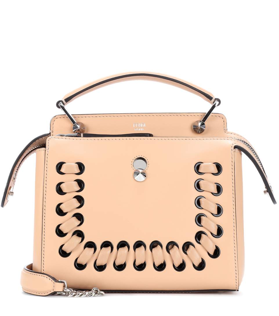 0fdf7a32e4f1 Fendi Dotcom Click Whipstitch Leather Shoulder Bag In Neutrals ...