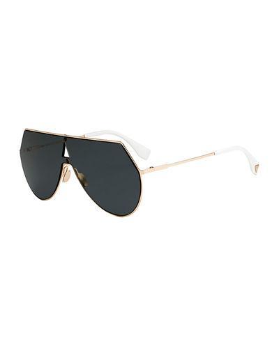 c069a33f342c Fendi Women s Eyeline Mirrored Shield Sunglasses