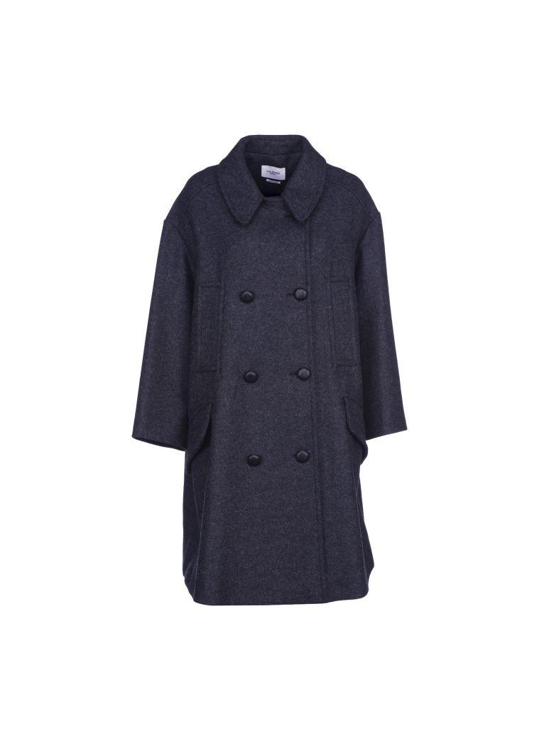 Etoile Isabel Marant Isabel Marant Étoile Double-breasted Flicka Coat In Antracite