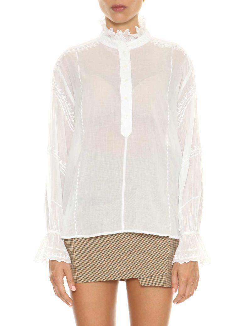 Etoile Isabel Marant Isabel Marant Etoile Louna Shirt With Embroideries In White