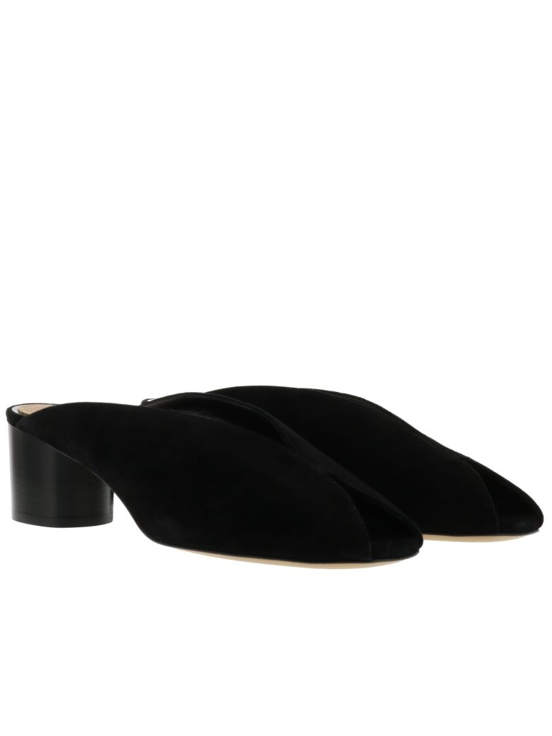 Isabel Marant Woman Measha Suede Mules Black In Llack