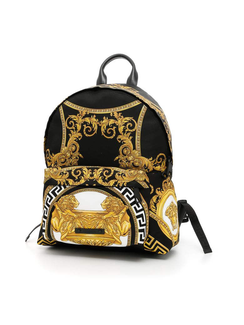 296d5a39a4 Versace Coupe Des Dieux Printed Nylon Backpack
