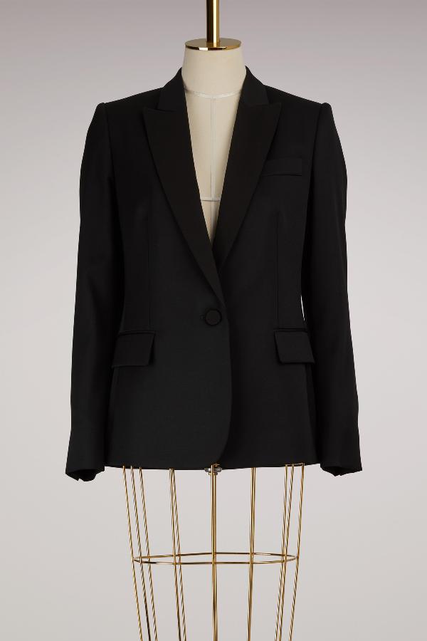 Stella Mccartney Ingrid Wool Blazer In 1000 - Black