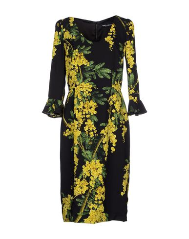 Dolce & Gabbana Knee-length Dresses In Yellow
