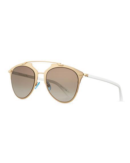 fcdf50c4868 Dior Women s Reflected Mirrored Brow Bar Aviator Sunglasses
