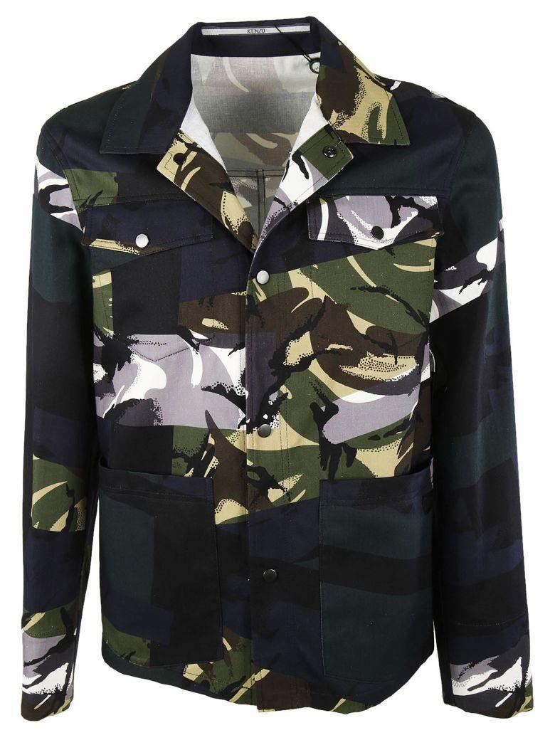 ef97b03cb3 Kenzo Broken Camouflage Military Jacket In Night Blue | ModeSens