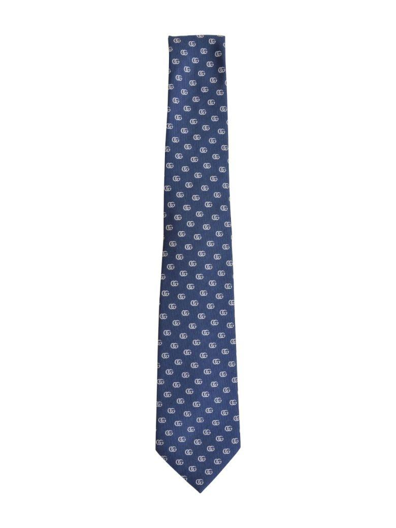 21aeb5275148 Gucci Double G Pattern Silk Tie In Blue | ModeSens