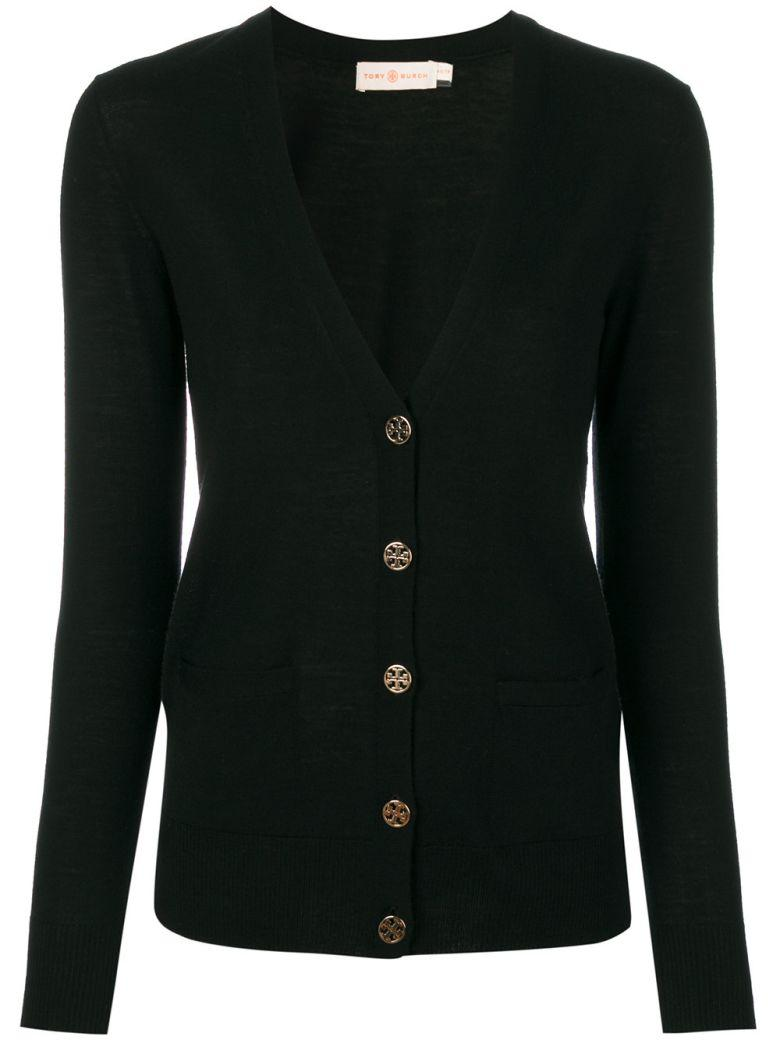 Tory Burch Button Up Cardigan In Black