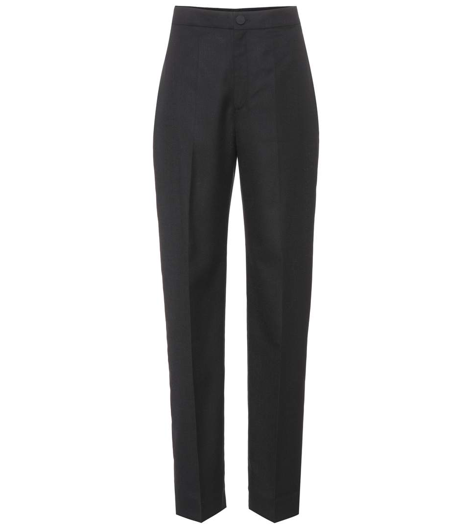 La Wool Taille Pantalon Haute Trousers shtdQrCx
