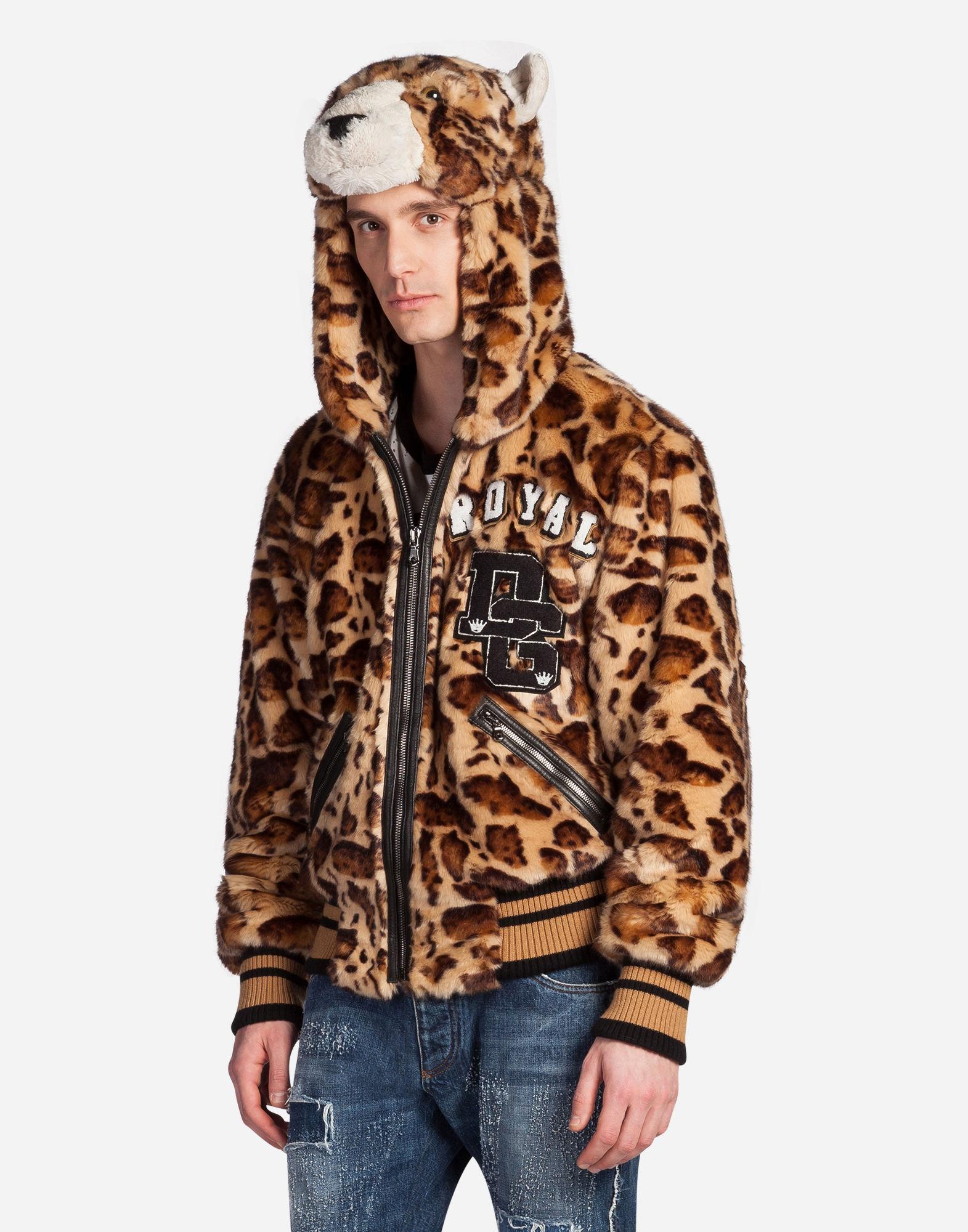 ec7bc83e6aef Dolce & Gabbana Leopard Print Hooded Coat | ModeSens