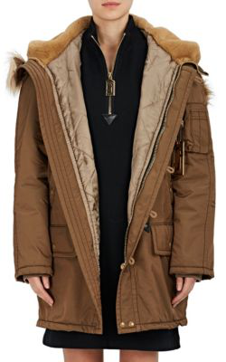 fc560849140a Marc Jacobs Faux-Fur-Trimmed Tech-Twill Parka In Brown