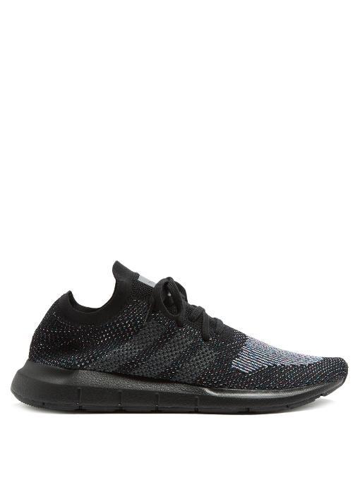 e61af7420 Adidas Originals Men s Swift Run Primeknit Lace Up Sneakers In White ...