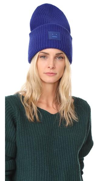 Acne Studios Ribbed Beanie Hat Royal Blue  fb952626f43b