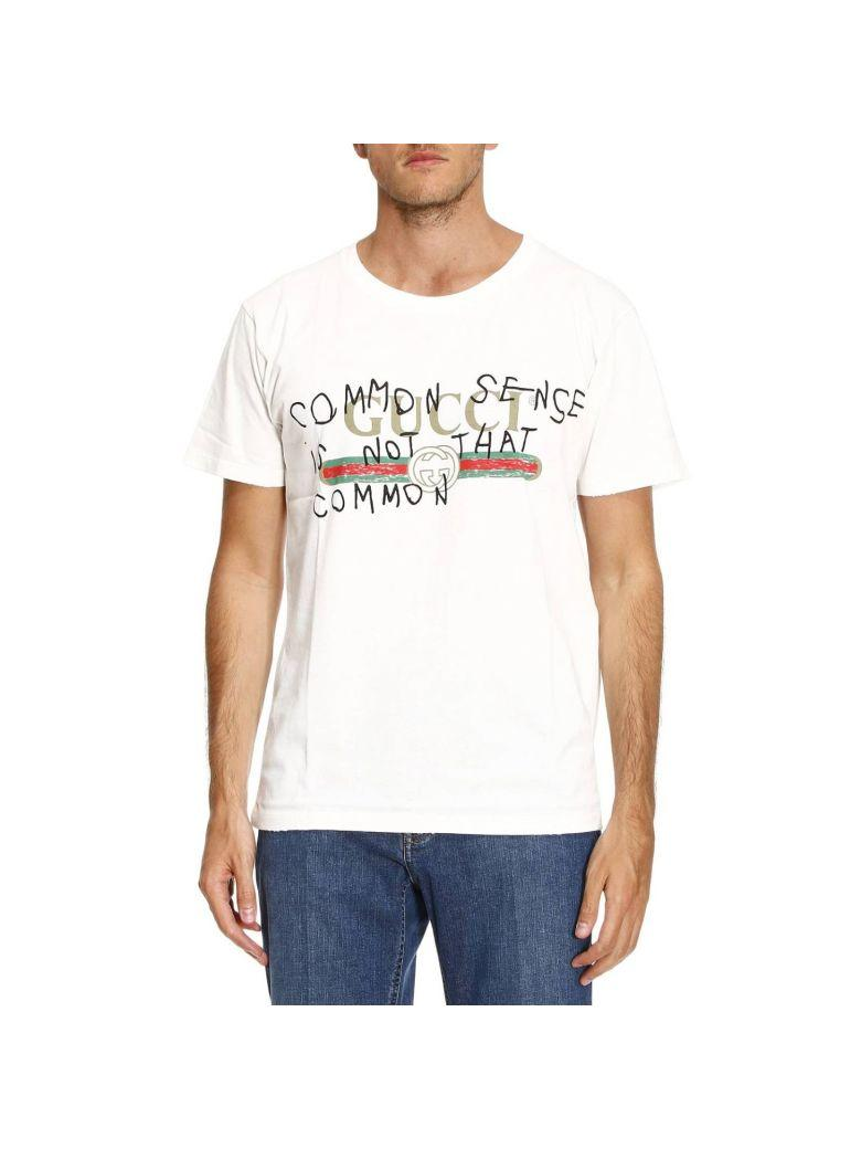 67537239c16 Gucci White Coco CapitÁN Edition  Common Sense  Logo T-Shirt