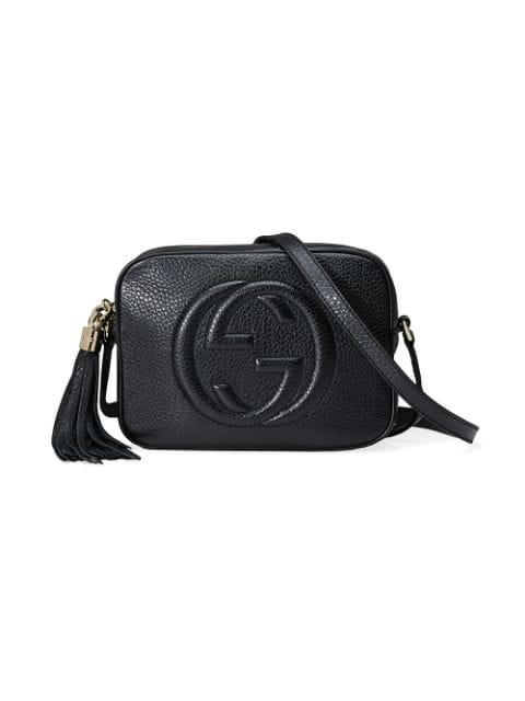 Gucci Soho Gg Small Leather Cross-body Bag In Black
