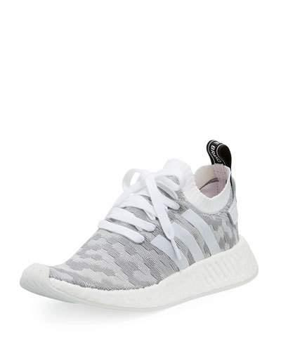 b3b816dec76f0 Adidas Originals Adidas Women s Nmd R2 Primeknit Casual Sneakers From Finish  Line In Grey