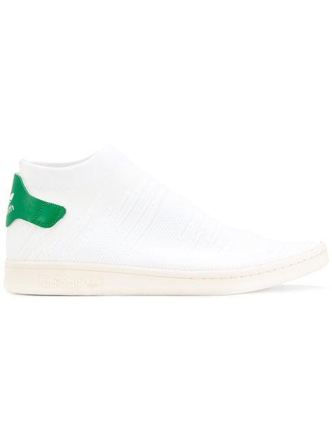 Gucci Adidas Originals Stan Smith Shock Primeknit Sneakers In White