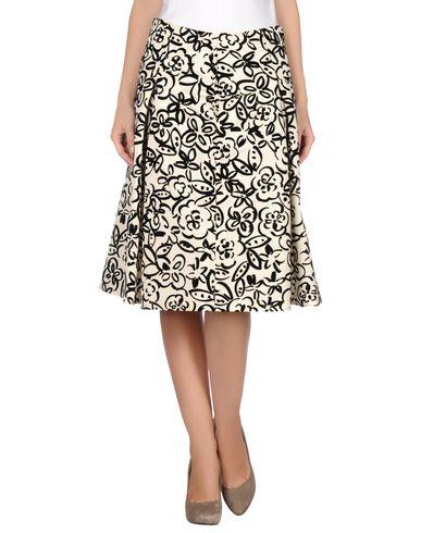 Moschino 3/4 Length Skirt In Ivory