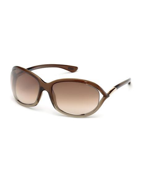 b6719e2e286a Tom Ford  Jennifer  61Mm Oval Oversize Frame Sunglasses - Brown Gradient   Light Orange