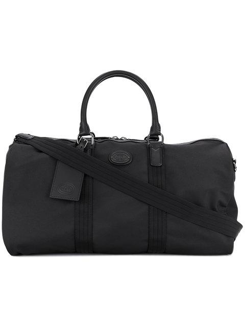 9ade9ba9d9 Polo Ralph Lauren Thompson Leather-Trimmed Water-Repellent Canvas Duffle Bag  In Black