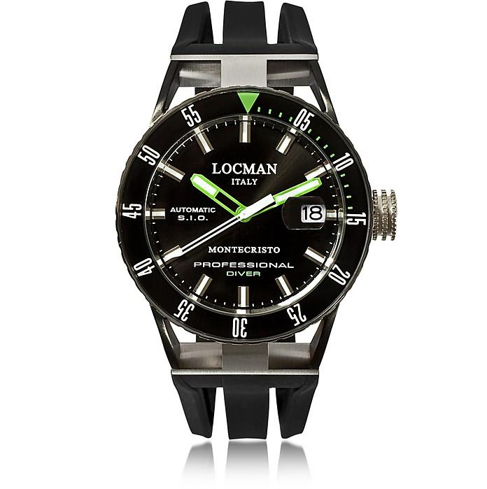 Locman Montecristo Black Pvd Stainless Steel & Titanium Chronograph Men's Watch
