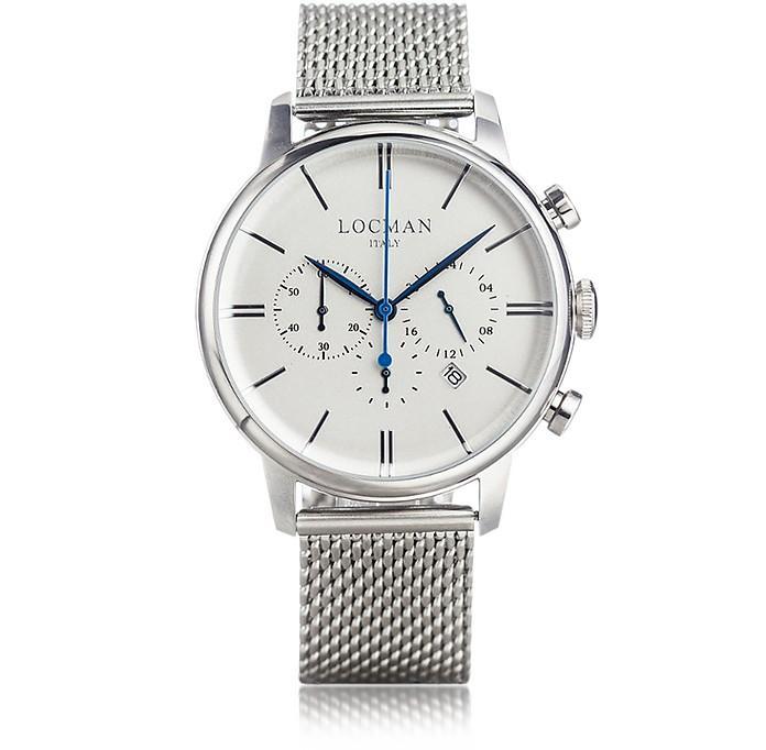 Locman 1960 Silver Stainless Steel Men's Chronograph Watch