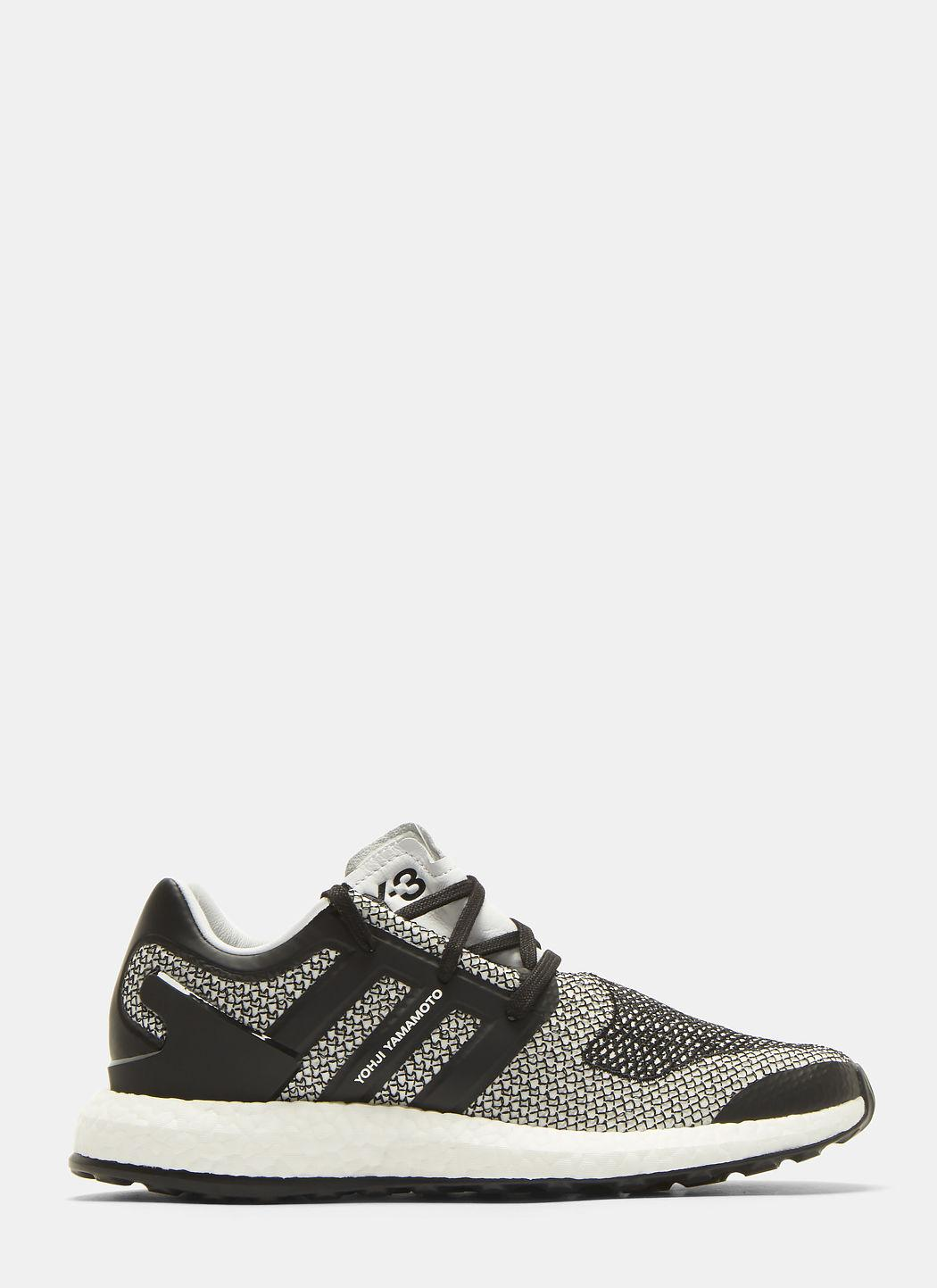 392cfdca7 Y-3 Pure Boost Rubber-Trimmed Primeknit Sneakers In Black