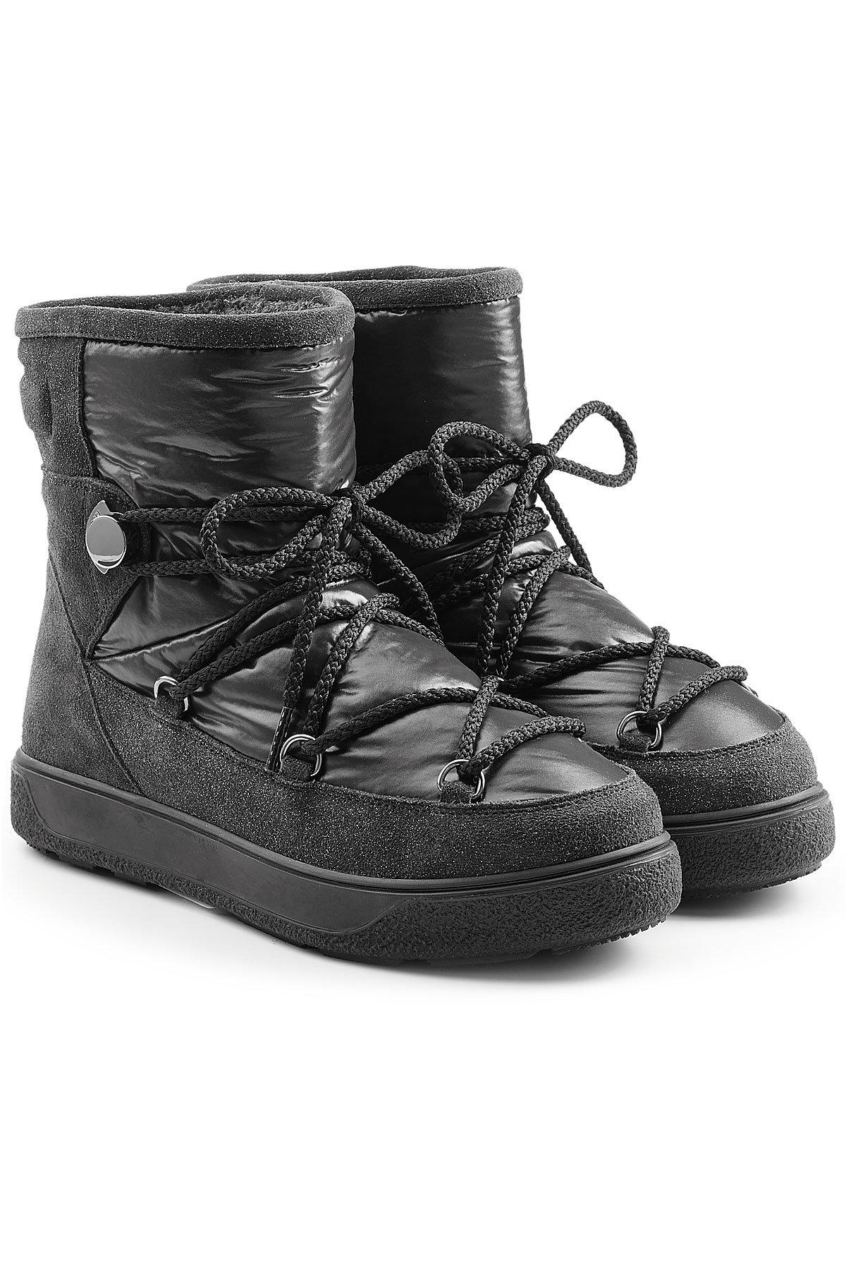 Moncler New Fanny Quilted Ankle Boots With Suede In Black