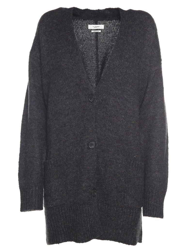 Etoile Isabel Marant Daxton Oversized V-neck Knit Cardigan In Nero