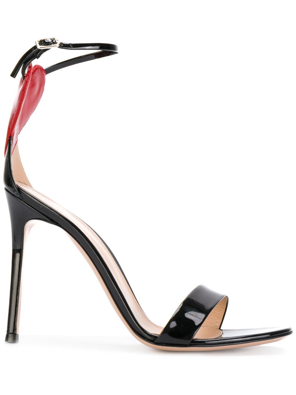 d3e9288efe93 Gianvito Rossi Love Portofino 110 Embellished Patent-Leather Sandals In  Black