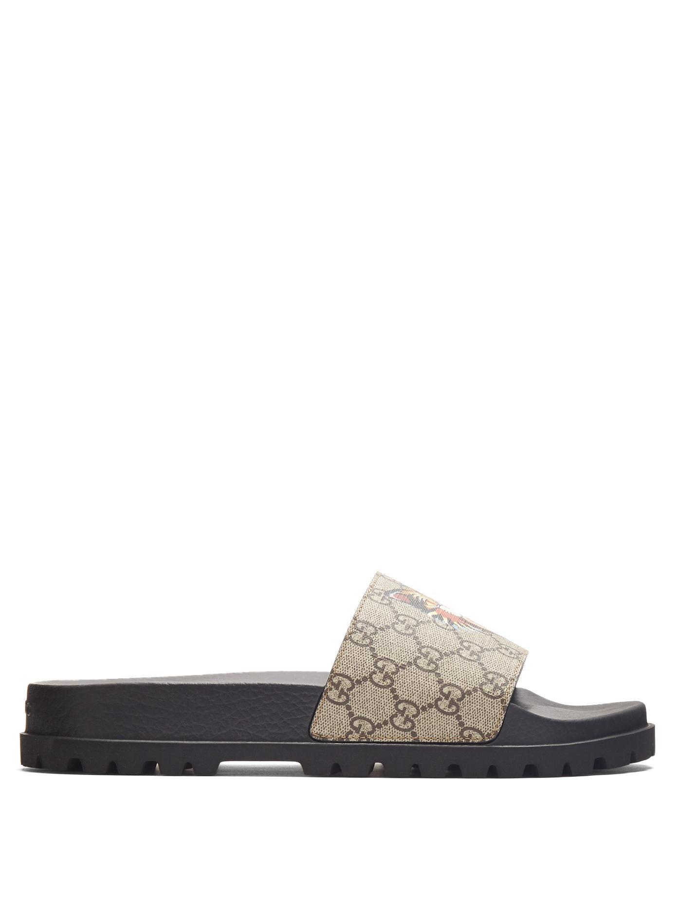 d7fca31c2 Gucci Pursuit Treck Gg Supreme Cat & Eye Slide Sandal, Multicolor In Brown