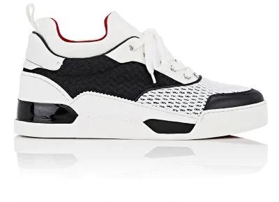 ec2095234772 Christian Louboutin Aurelien Flat Mixed-Material Sneakers - White ...