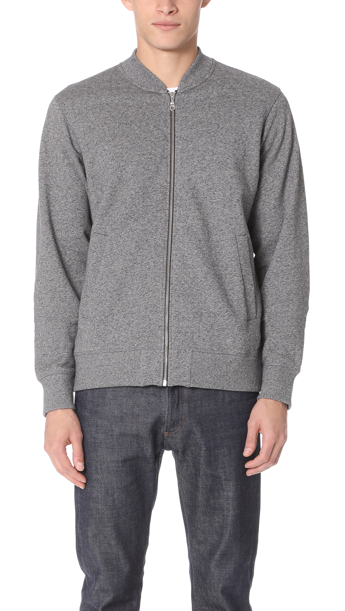 b7d92b852f25f Kenzo Tiger Embroidered French Terry Bomber Jacket In Grey | ModeSens