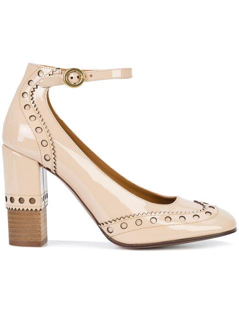 c8e23fe9ef4 ChloÉ Perry Patent Leather Mary Jane Pumps In Mild Beige